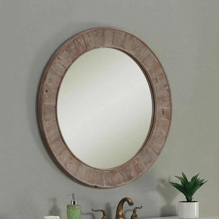 28 X In Round Bath Vanity Décor, Round Wood Frame Mirror Canada