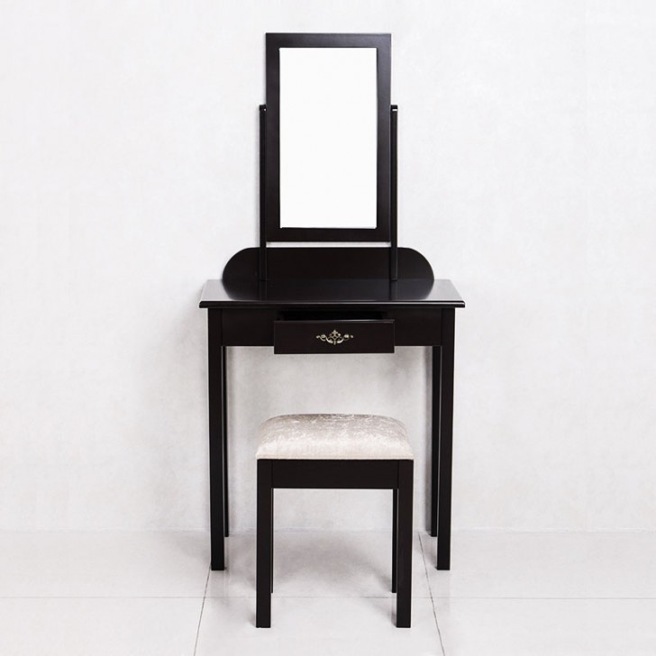 Sensational Bedroom Makeup Vanity Set With Mirror And Stool Ji3138 Andrewgaddart Wooden Chair Designs For Living Room Andrewgaddartcom