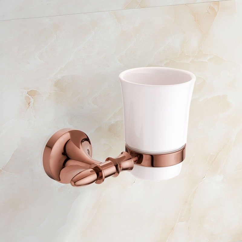 Round Tumbler Holder - Rose Gold Brass (90358E)