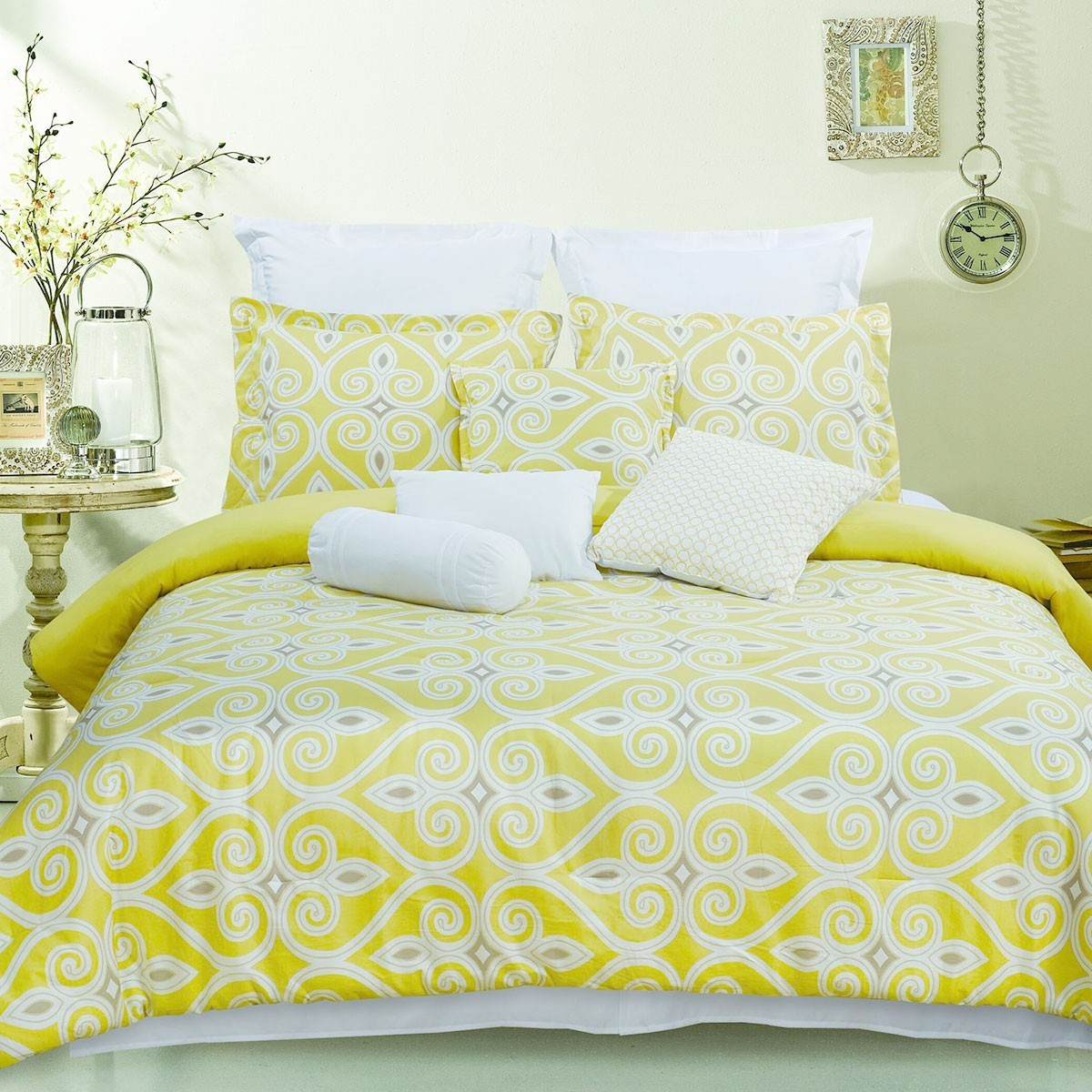 10-Piece Comforter Set in Yellow (DK-LJ002)