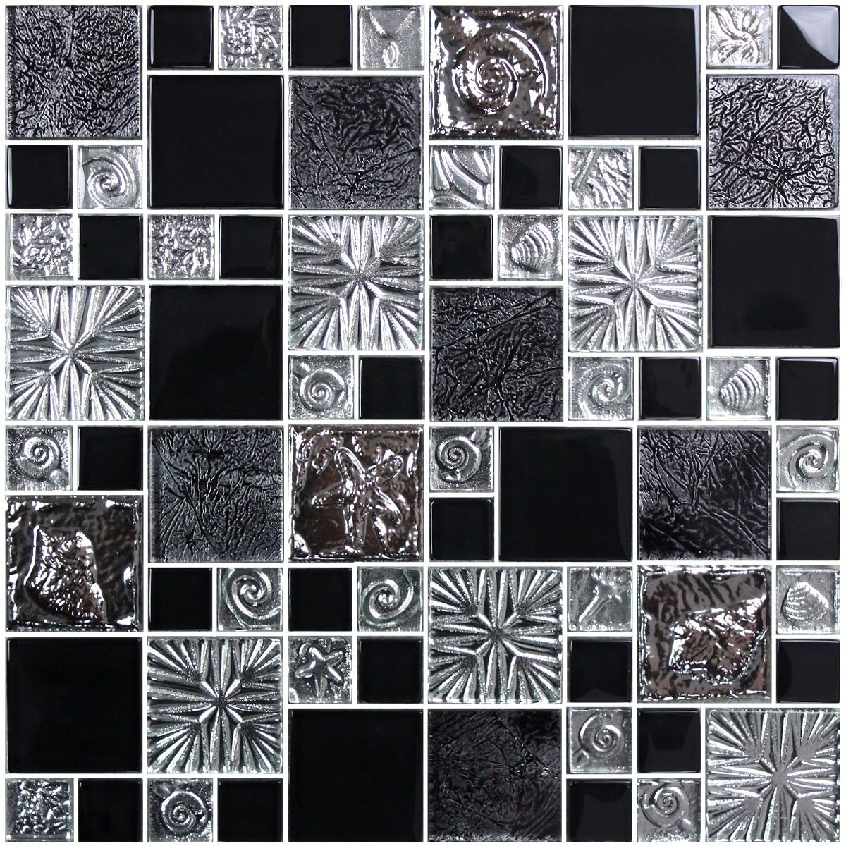 12 in. x 12 in. Electroplated Glass Mosaic Tile - 8mm Thickness (SH0040)