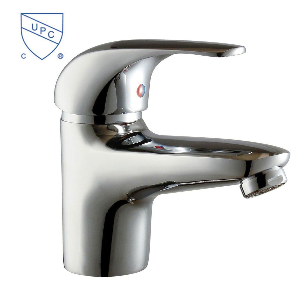 Basin Sink Faucet Single Hole Single Lever Brass With Chrome Finish 3027 Decoraport Canada