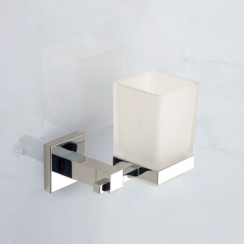 Square Tumbler Holder - Chrome Brass (80858)