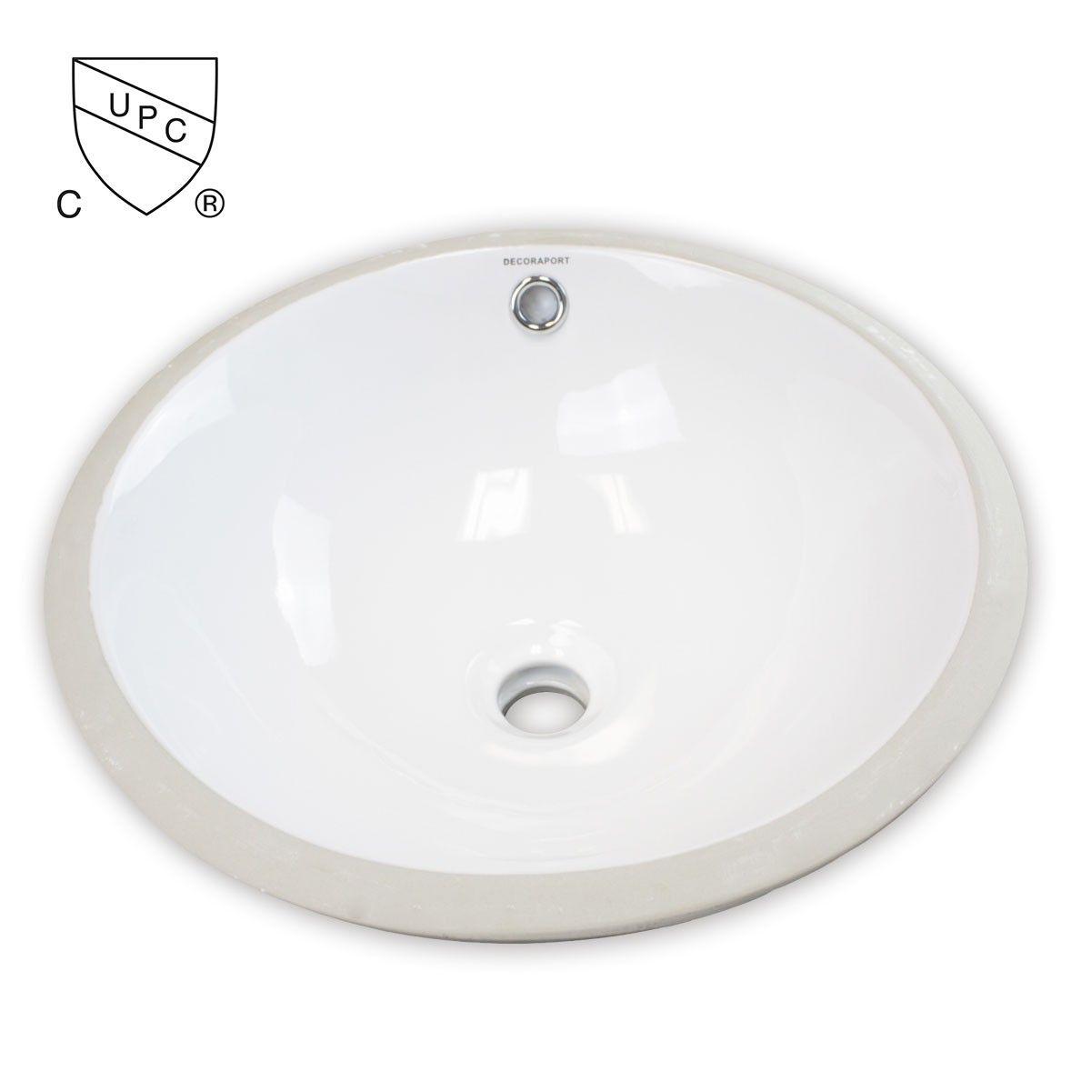 Decoraport White Round Ceramic Under Mount Basin (MY-3712)