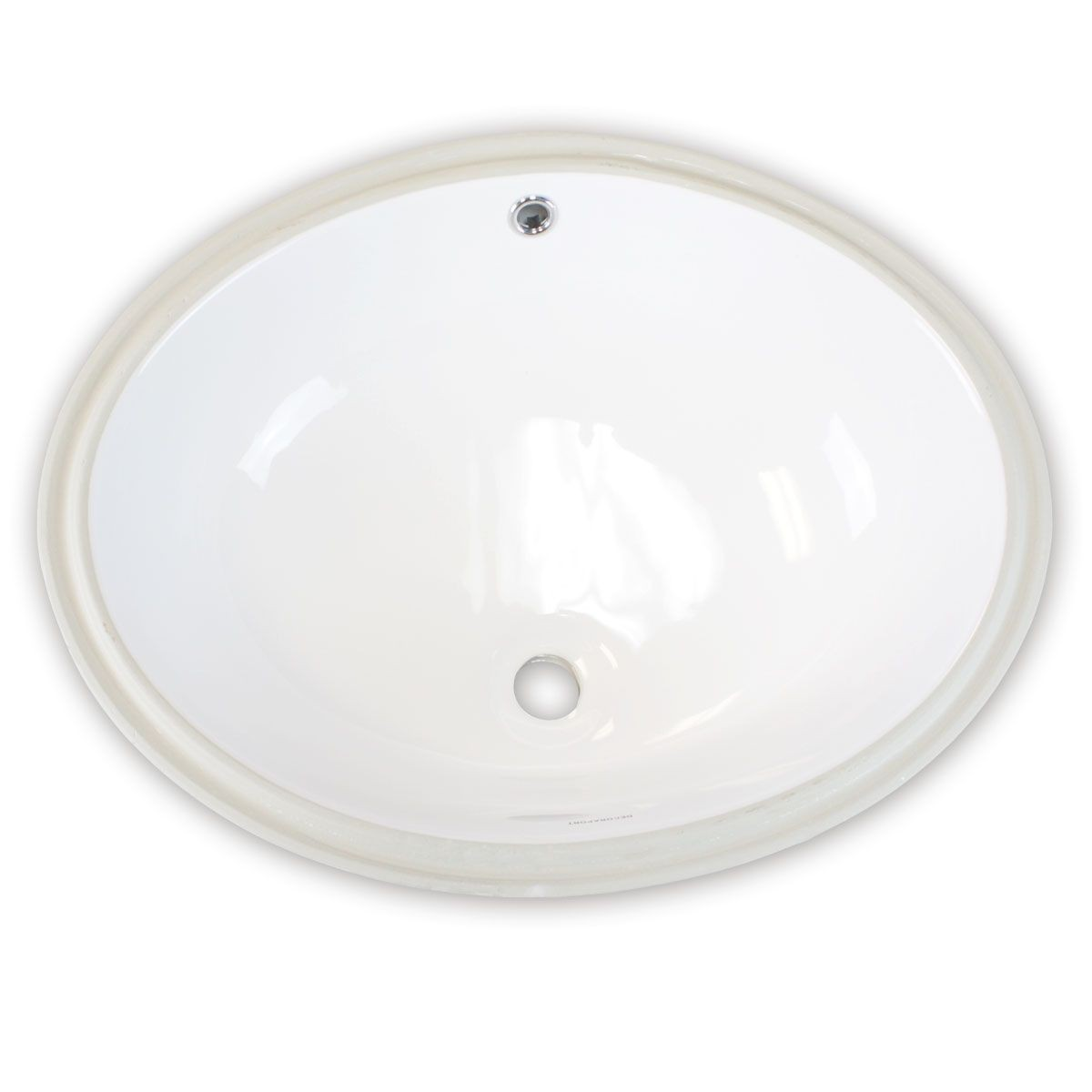 Decoraport White Oval Ceramic Under Mount Basin (MY-3708)