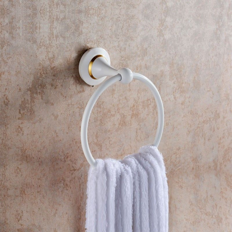 Towel Ring - White Painting Brass (80360D)
