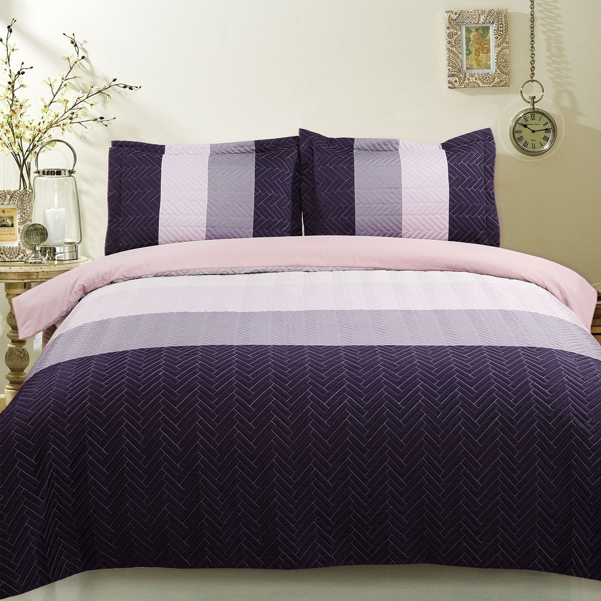 3-Piece Purple Duvet Cover Set (DK-LJ008)