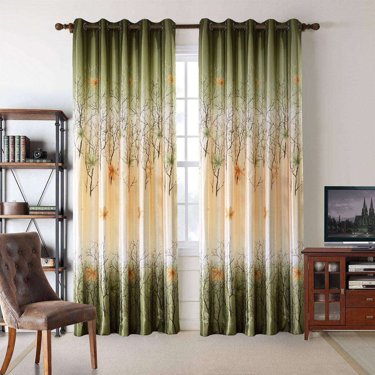 """Blackout Grommet Curtain Panel, Maple Leaf, 50"""" W x 96"""" L (DK-GT004)"""
