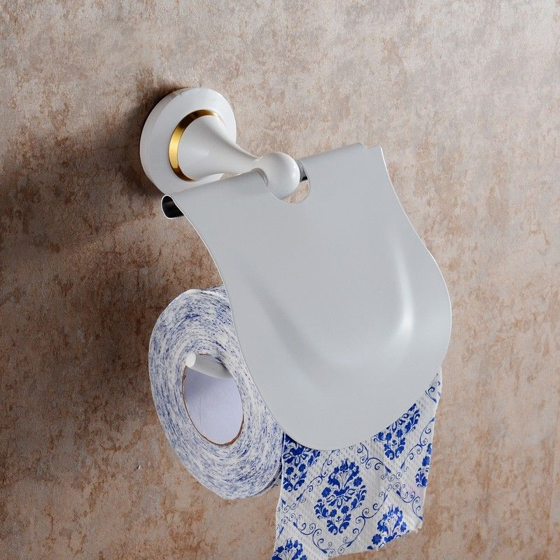 Toilet Paper Holder - White Painting Brass (80351D)