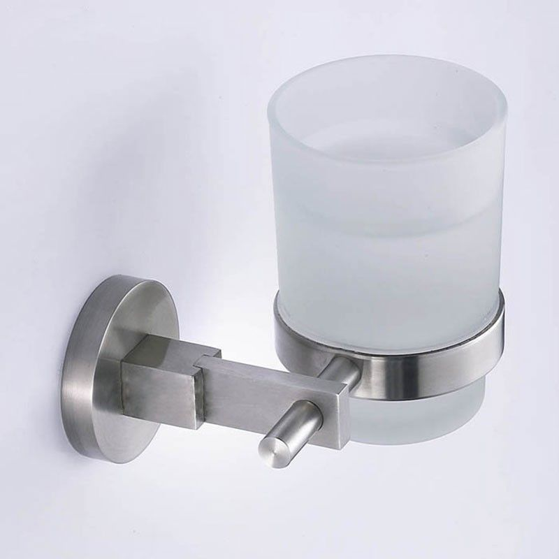 Round Tumbler Holder Brushed Stainless Steel 30358