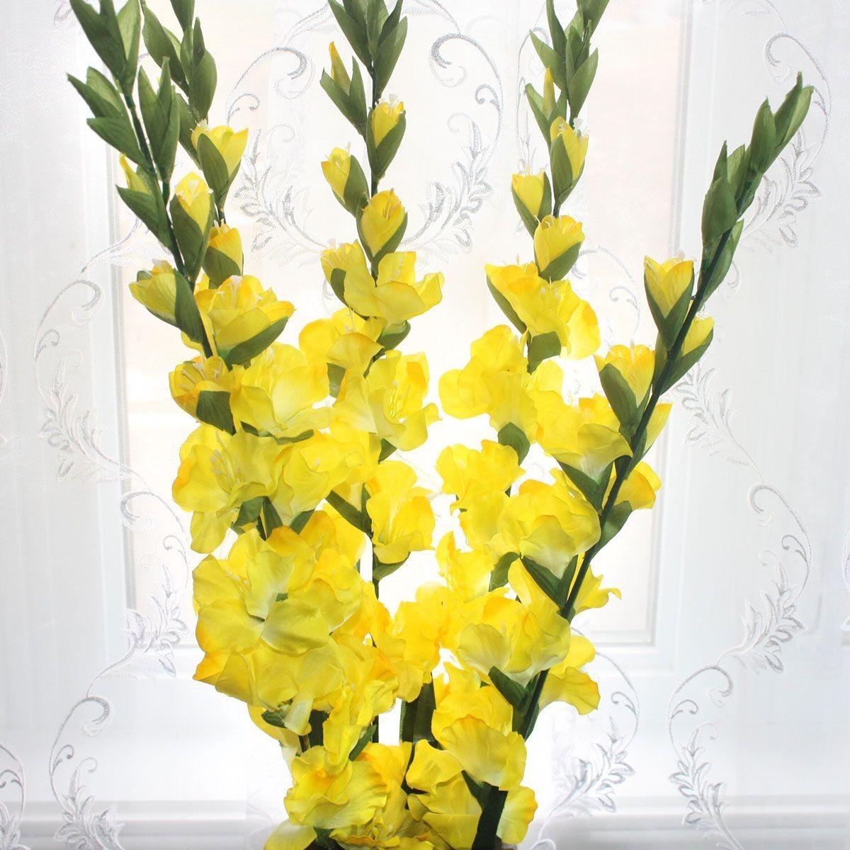 "Artificial Gladiolus Flower/Piece - 44"" - Yellow"