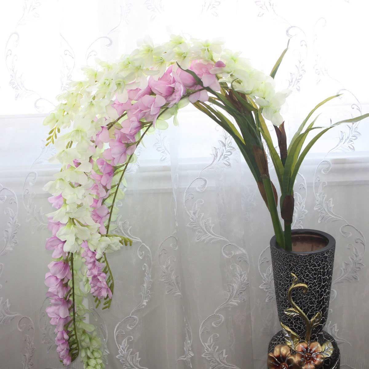 """Artificial Spider Plant Flower/2 Heads/Piece - 67"""""""