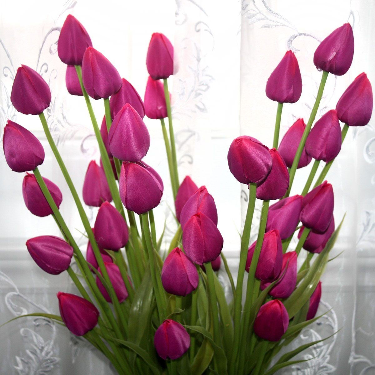 "Artificial Tulip Flower/Piece - 35"" - Purple"