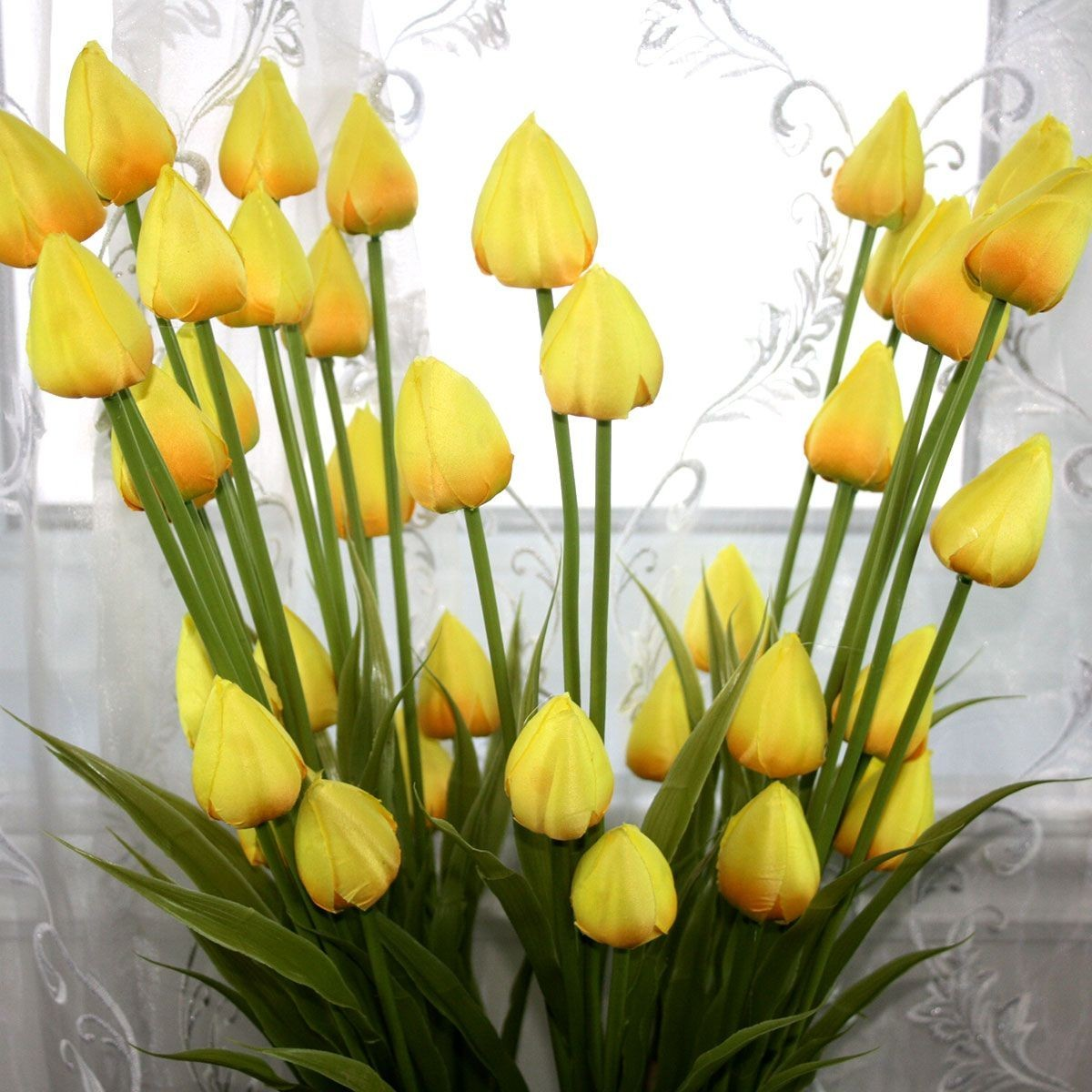 "Artificial Tulip Flower/Piece - 35"" - Yellow"