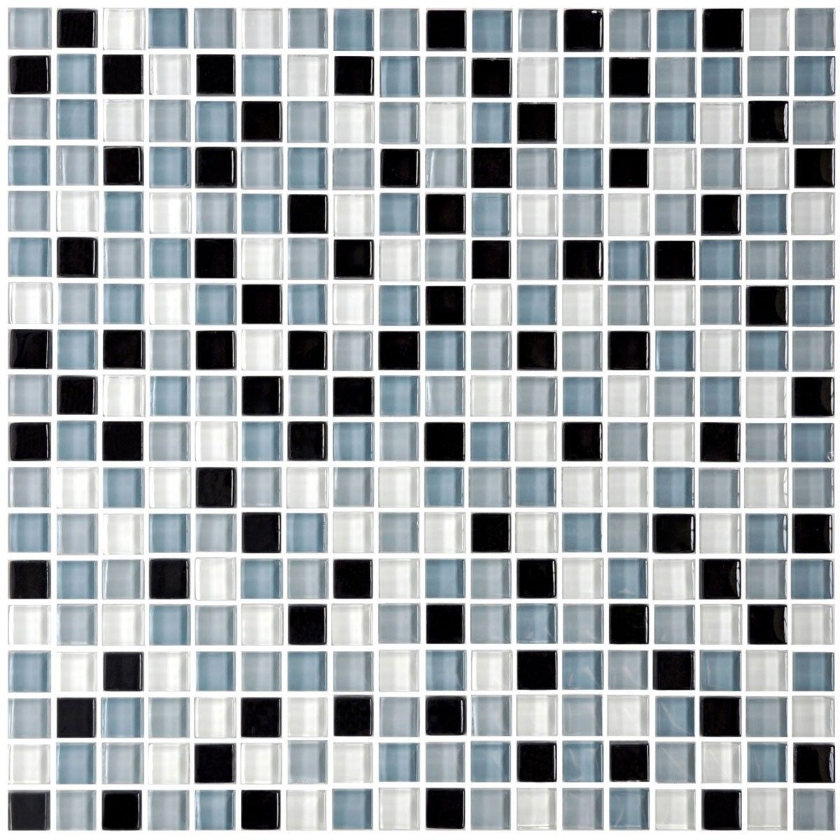 12 In X 12 In Glass Mosaic Tile 8mm Thickness A2102