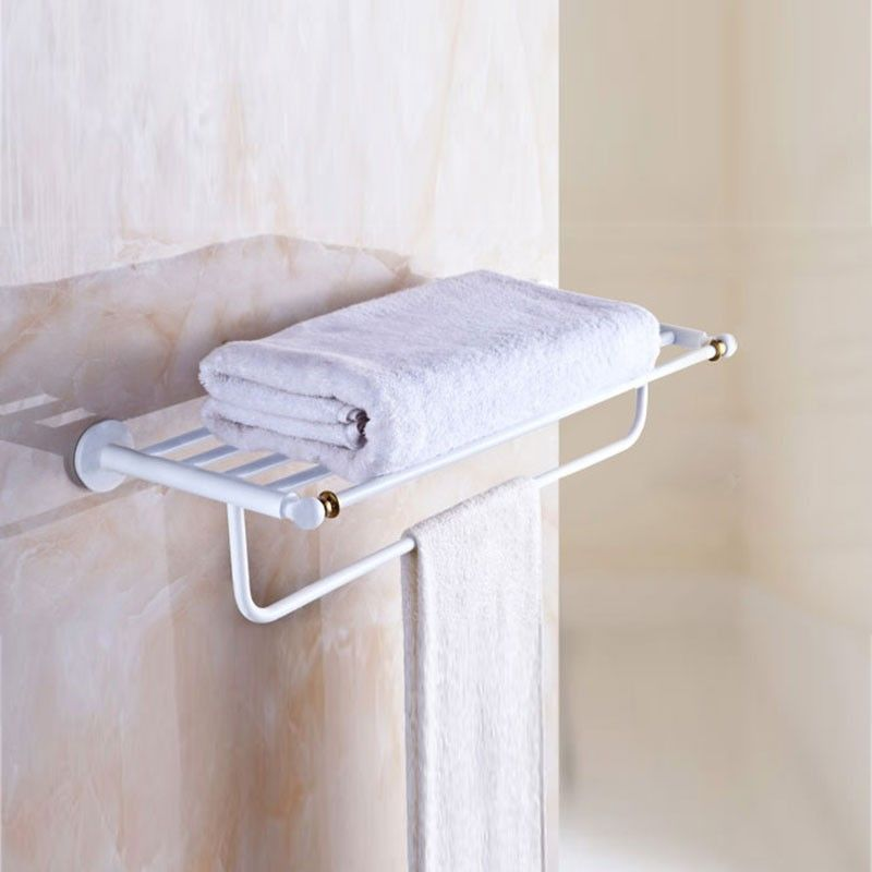 Towel Shelf Amp Bar 24 Inch White Painting Brass 80300d Decoraport Canada