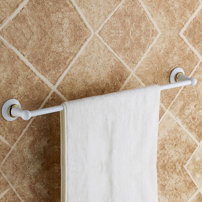 Towel Bar 24 Inch White Painting Brass 80324d