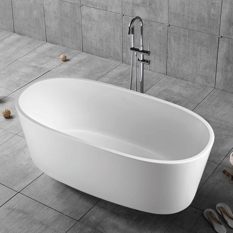 63 In Freestanding Bathtub - Acrylic Pure White (DK-PW-16678)