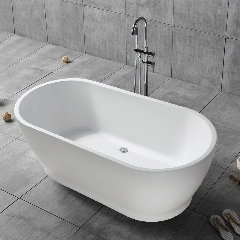 59 In Freestanding Bathtub - Acrylic Pure White (DK-PW-17572)