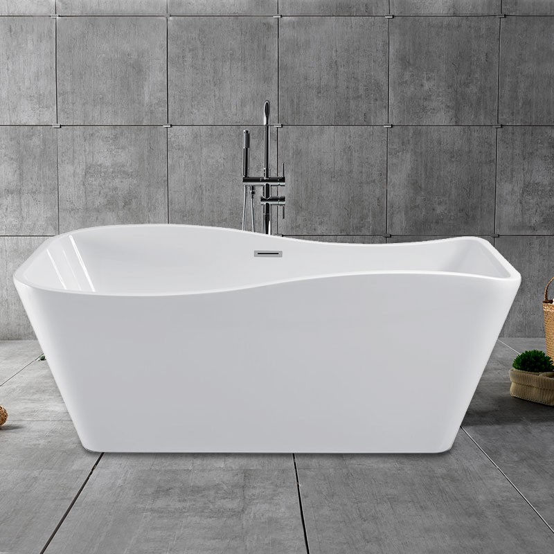 59 In Freestanding Bathtub - Acrylic Pure White (DK-PW-25572)