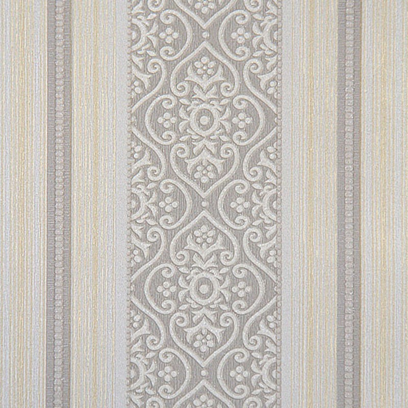 57 sq.ft/Roll Wallpaper / Simple Stripe Embossing Design Home Wall Decoration (57 sq.ft/Roll) (DK-BL07052)