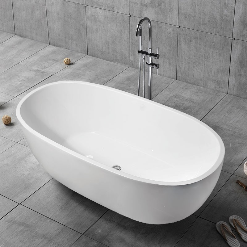 59 In Freestanding Bathtub - Acrylic Pure White (DK-PW-29572)