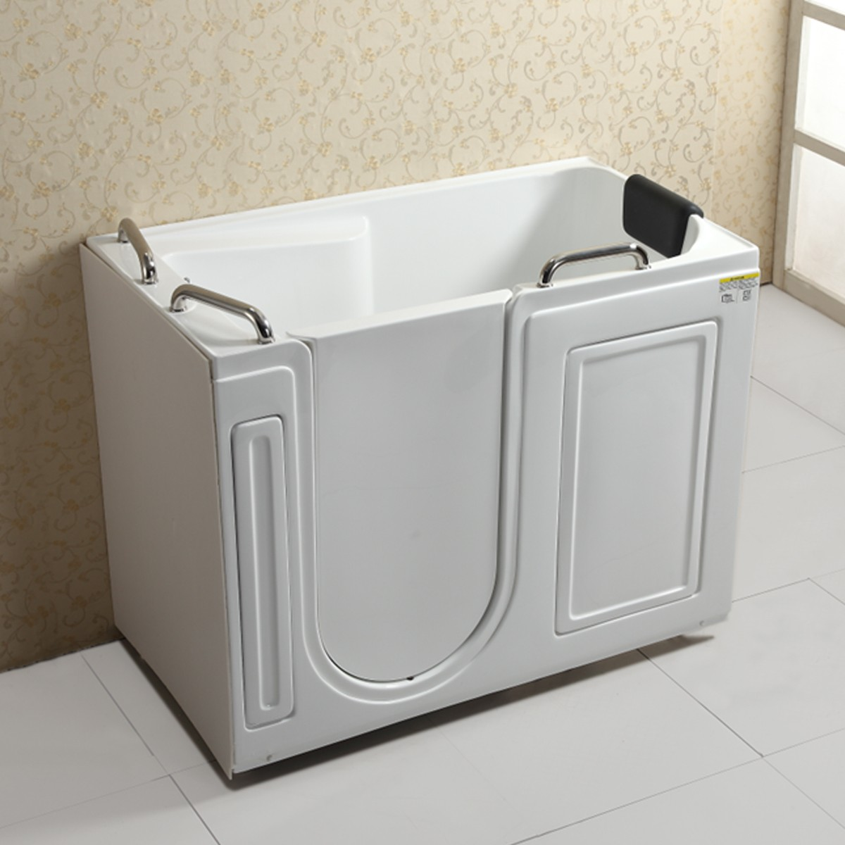 53 x 29 In Walk-in Soaking Bathtub - Acrylic White with Left Drain (DK-Q371-L)
