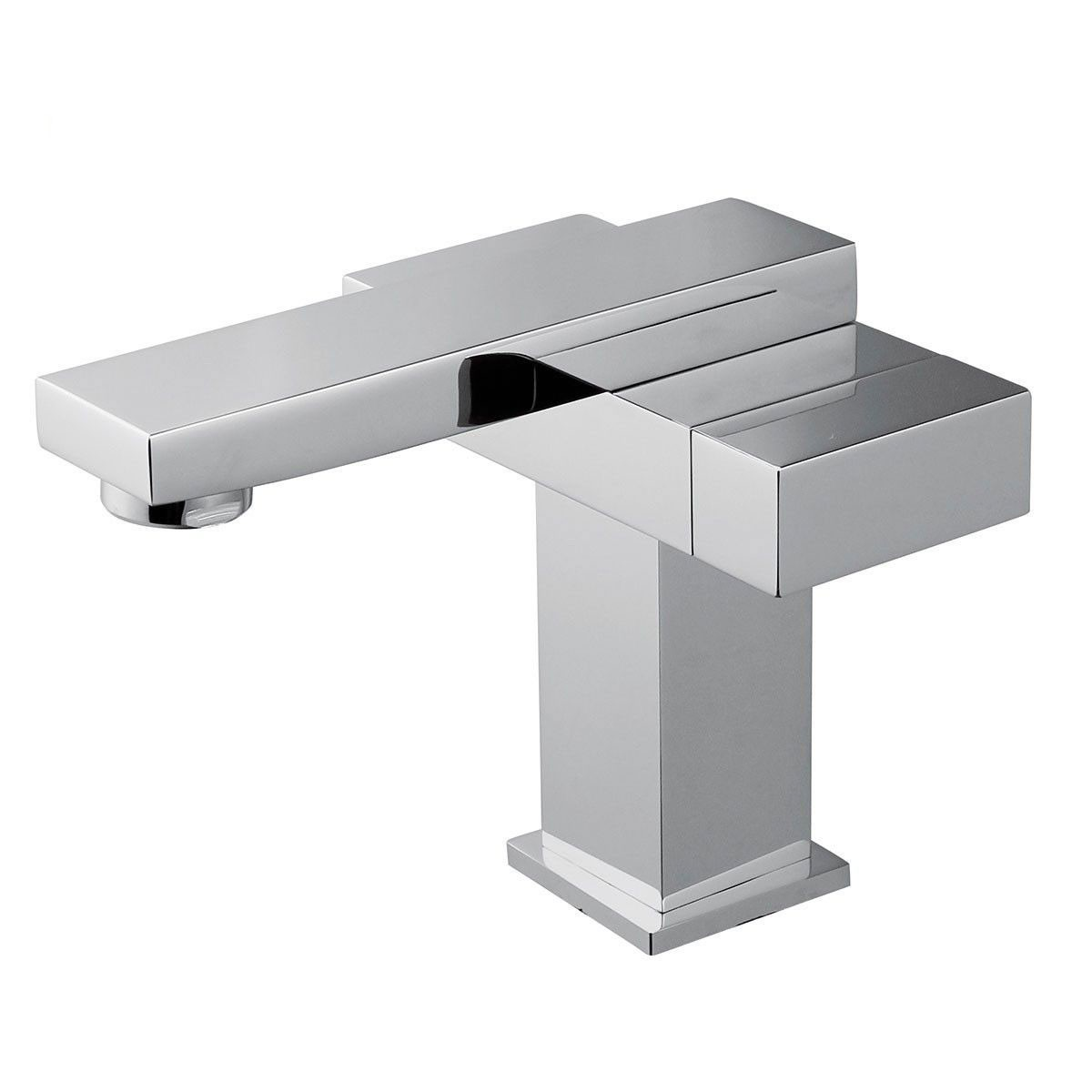 Basin&Sink Faucet - Single Hole Double Lever - Brass with Chrome Finish (6051)