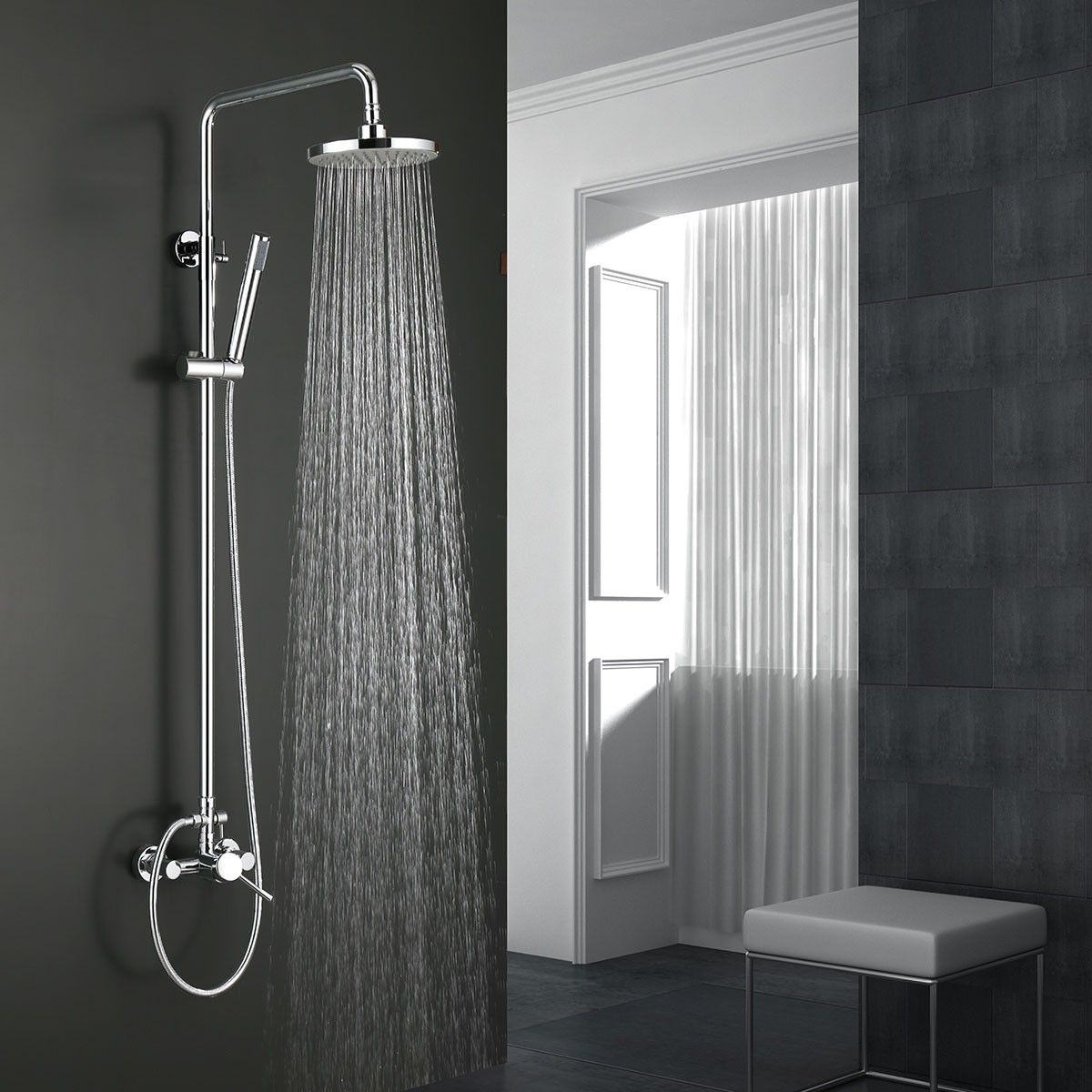 Rain Shower Head Brass With Chrome Finish 9460