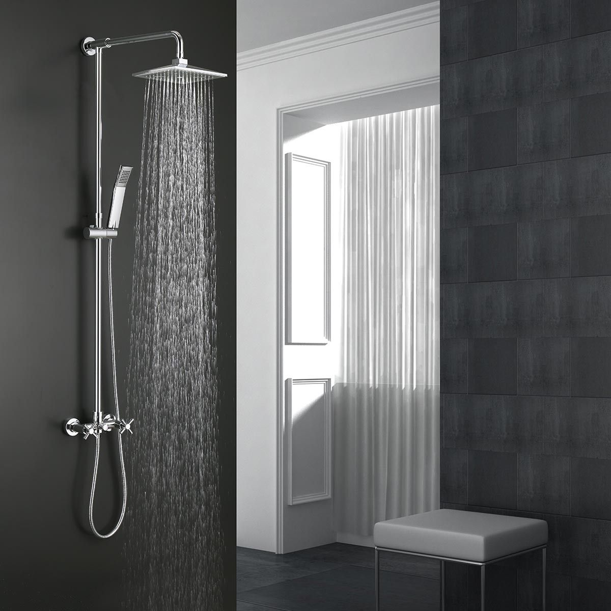 Rain Shower Head Brass With Chrome Finish 9503