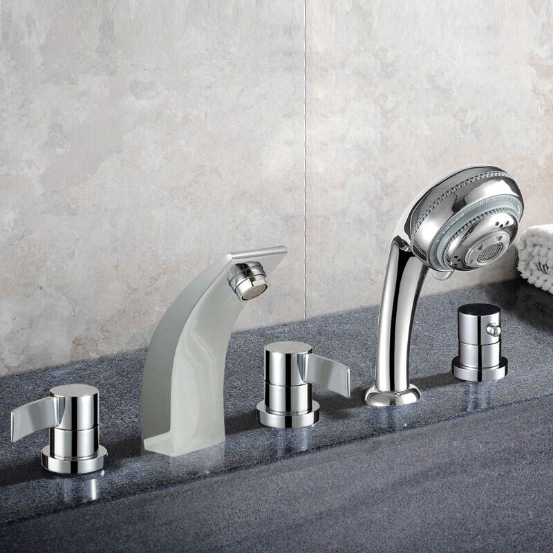 Decoraport 5 pieces Brass Bathtub Faucet (YDL-2508A)