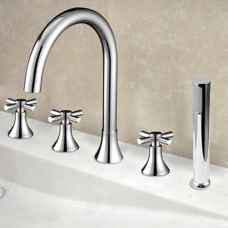 5 pieces brass bathtub faucet (ydl-2506a) | decoraport canada