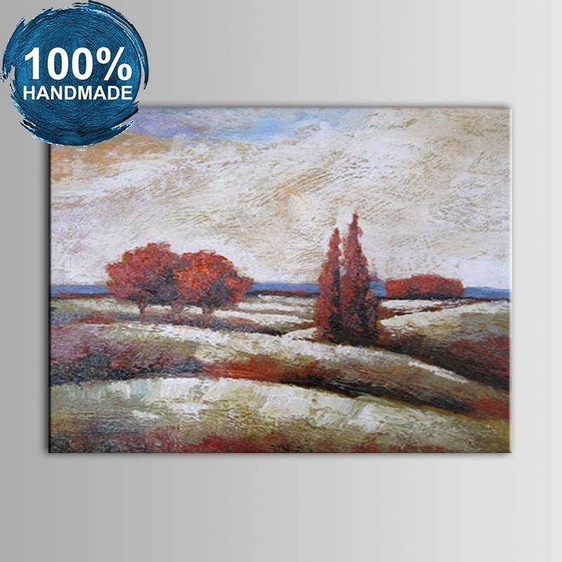 100% Hand Painted Abstract Landscape Oil Painting on Canvas (DK-JX-YH01)