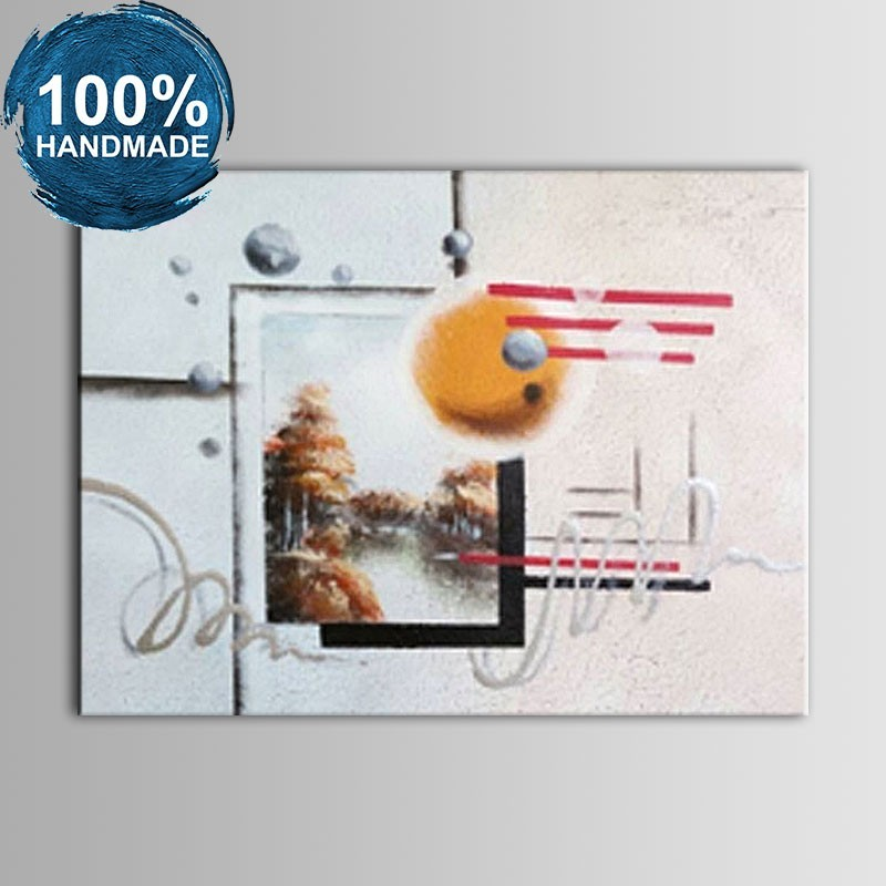 100% Hand Painted Abstract Oil Painting on Canvas (DK-JX-YH02)
