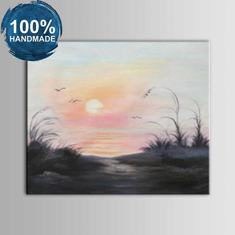 100% Hand Painted Abstract Landscape Oil Painting on Canvas (DK-JX-YH060)