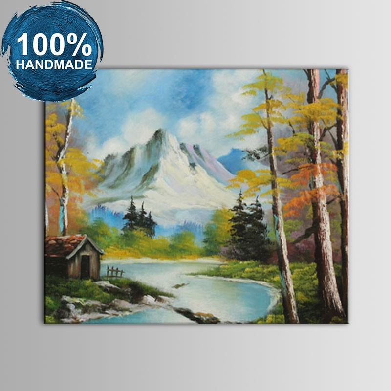 100% Hand Painted Abstract Landscape Oil Painting on Canvas (DK-JX-YH058)
