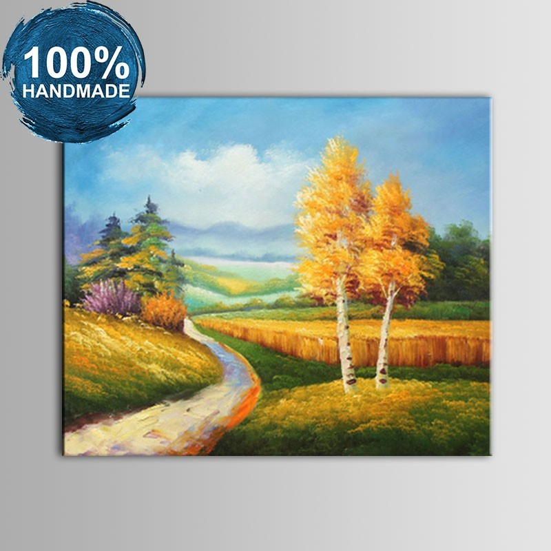 100% Hand Painted Abstract Landscape Oil Painting on Canvas (DK-JX-YH055)