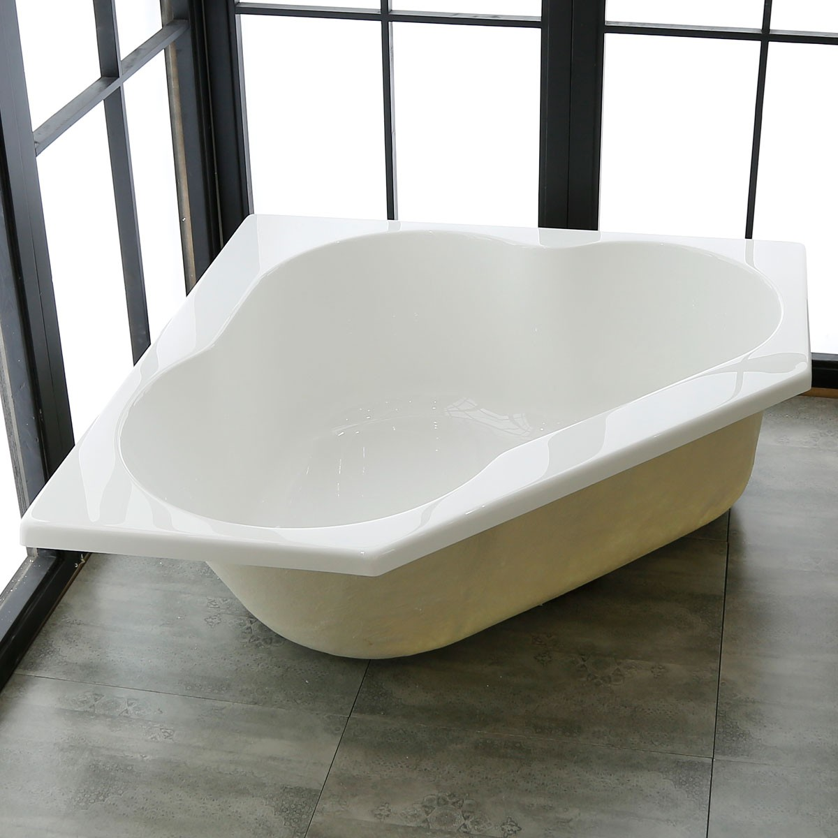 47 in triangle drop in bathtub acrylic white dk realmcb decoraport canada - Triangular bathtub ...