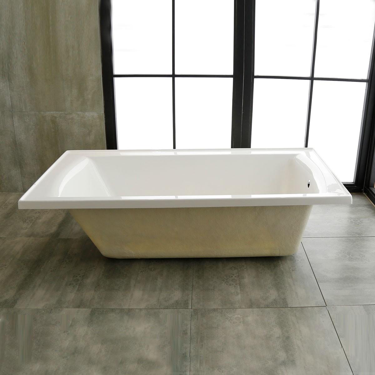60 In Drop-in Bathtub - Acrylic White (DK-3358) | Decoraport Canada