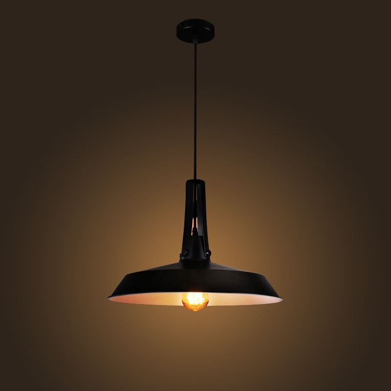 Iron Built Matte Black Vintage Pendant Light (DK-2052-D1A)