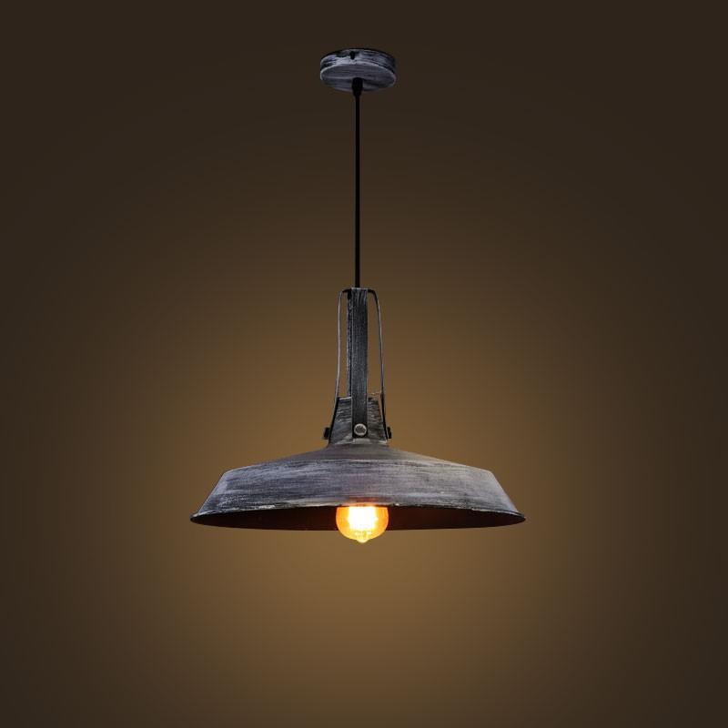 Iron Built Gray Vintage Pendant Light (DK-2052-D1D)