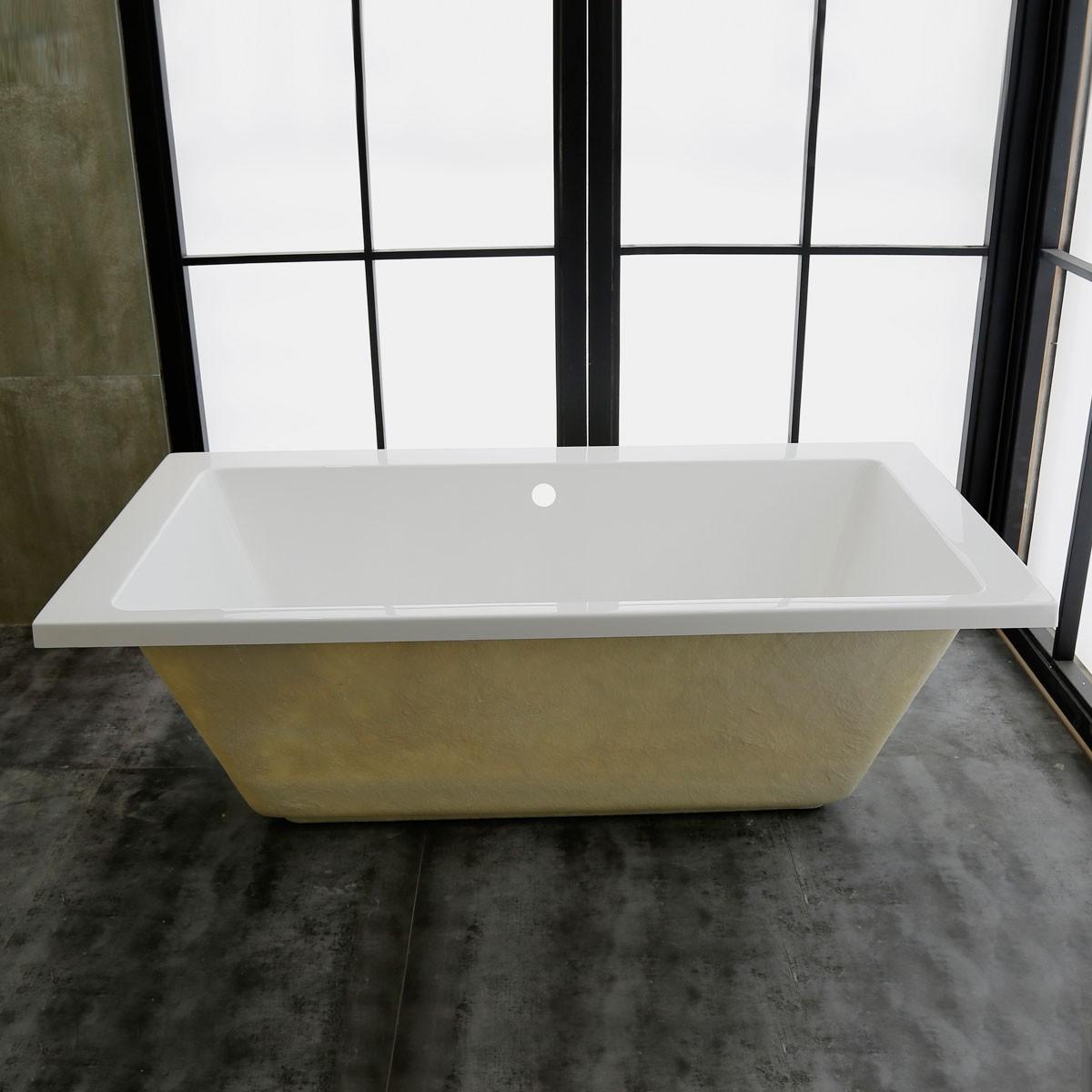 67 In Built-in Bathtub - Acrylic White (DK-MEC3057B)
