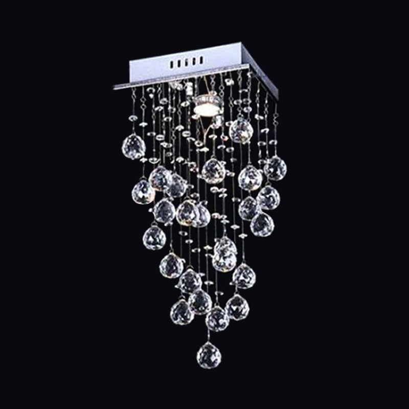 Stainless Steel Built Modern LED Crystal Ceiling Chandelier (DK-LD05007-1)