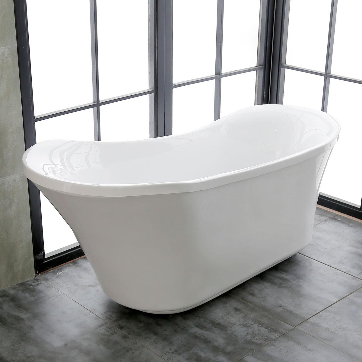 71 ln Freestanding Bathtub - Acrylic White (DK-K57880)