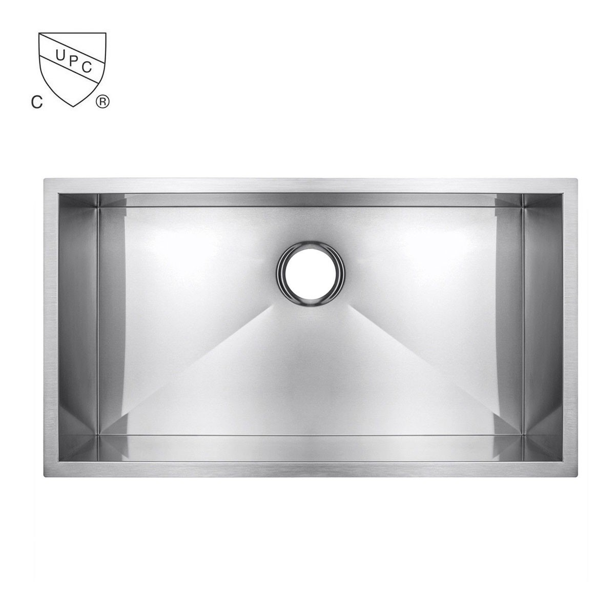 Stainless Steel Single Bowl Kitchen Sink (AS3322S-R0)
