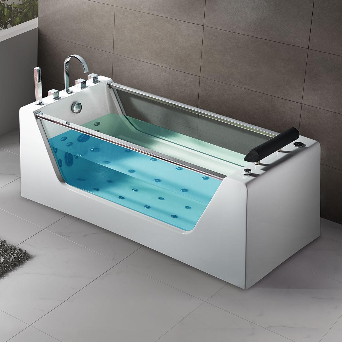 67 In Whirlpool Tub - Acrylic White (DK-Q412)   Decoraport Canada