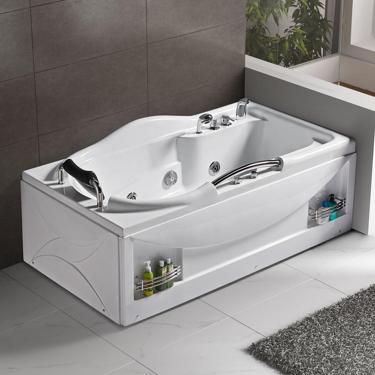 69 In Whirlpool Tub - Acrylic White (DK-Q314) | Decoraport Canada