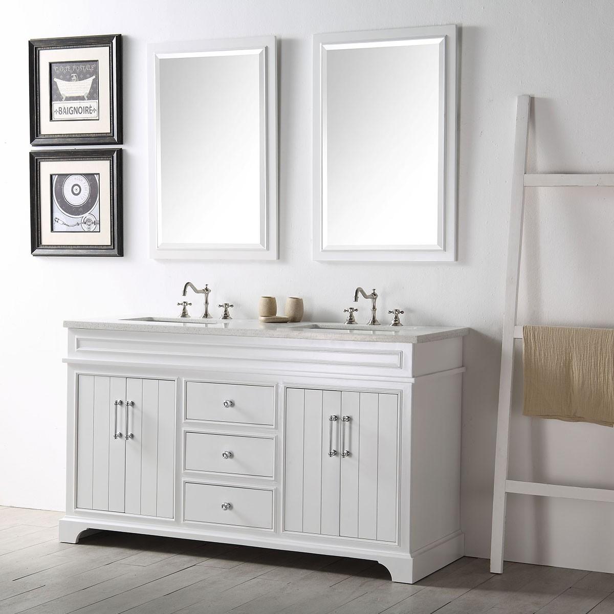 bathroom vanities set. 60 In. Bathroom Vanity Set Without Mirror (DK-6760-W) Vanities