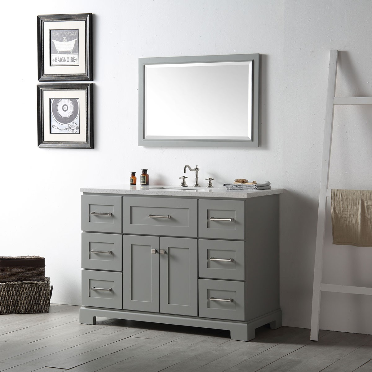 48 in bathroom vanity set without mirror dk 6648 cg