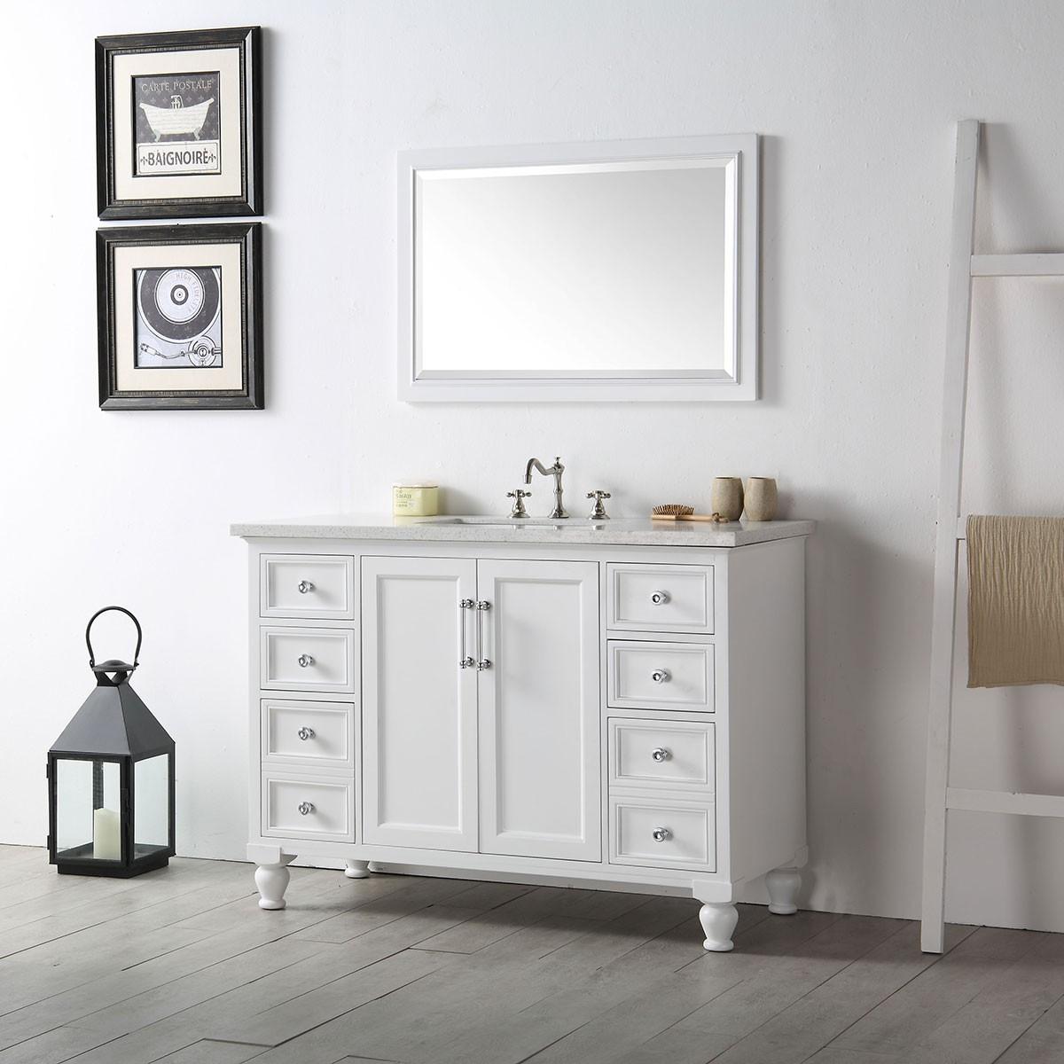 vanity set without mirror. 48 In  Bathroom Vanity Set without Mirror DK 6548 W Decoraport